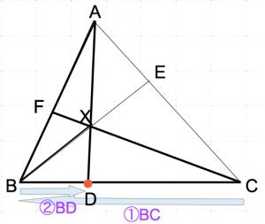 メネラウスの定理 2歩目 数学おじさん oj3math