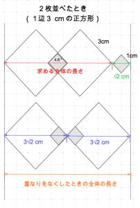平方根の利用 全体の長さ2 数学おじさん oj3math
