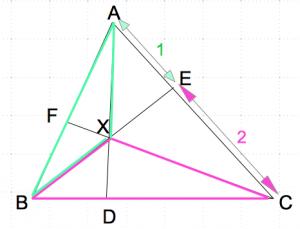 チェバの定理 面積比3 数学おじさん oj3math