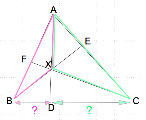 チェバの定理 面積比1 数学おじさん oj3math