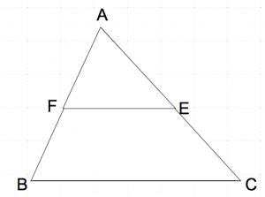 相似の三角形2つ 重ねた 数学おじさん oj3math