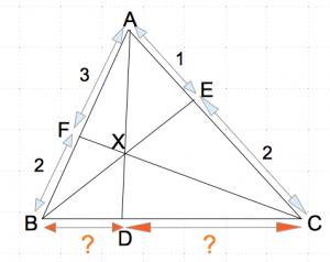 チェバの定理 問題 例題 数学おじさん oj3math