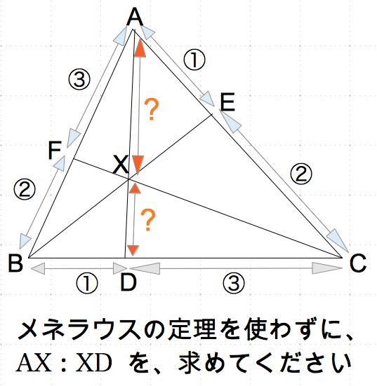 メネラウスの定理 なし 平行 線分比 数学おじさん oj3math