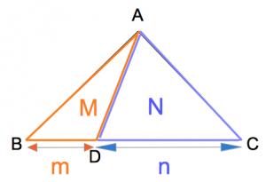 三角形の線分比と面積比2 数学おじさん oj3math